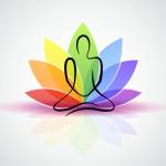 meditation bunte blume sakral