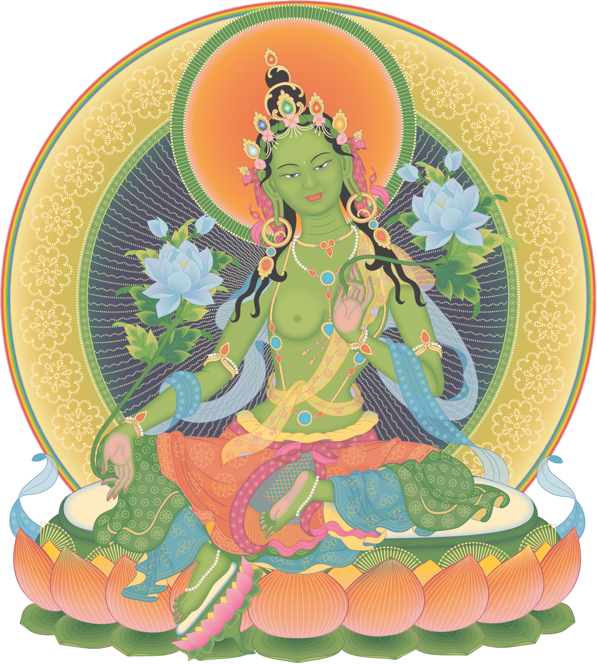 Green Tara 3_transparent