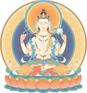 Avalokiteshvara (4-armed) 2_transparent